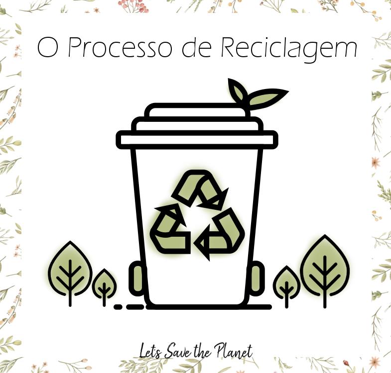 imagem alusiva ao tema da reciclagem, um ecoponto e umas pequenas árvores ao lado.
