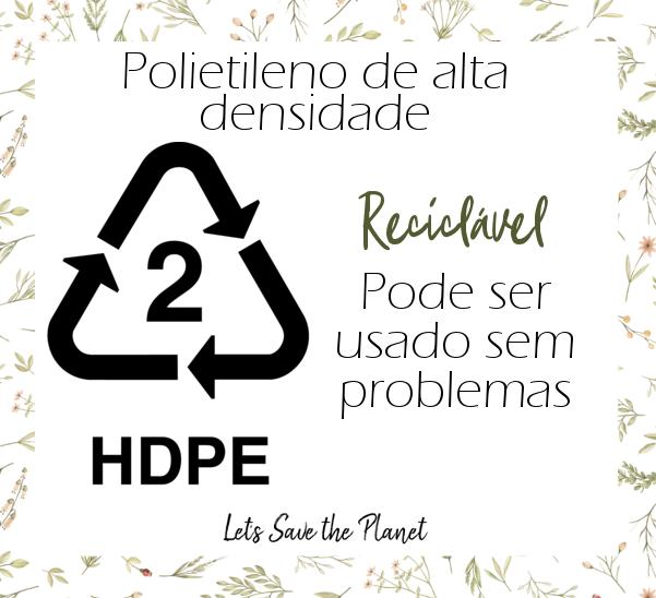2º tipo de plástico - Polietileno de alta densidade