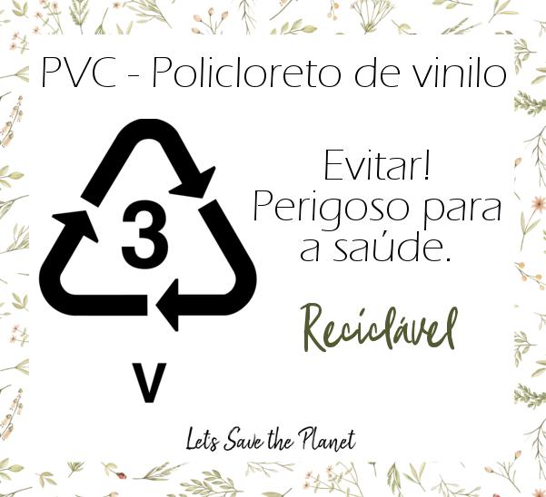3º tipo da lista de tipos de plásticos - PVC