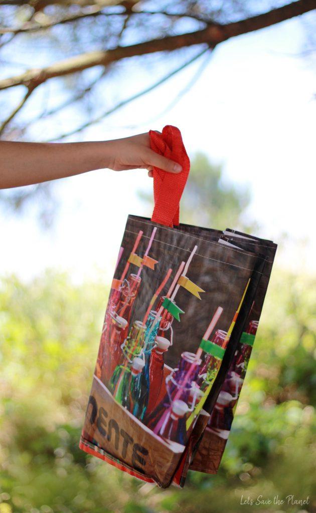 saco de plástico reutilizável