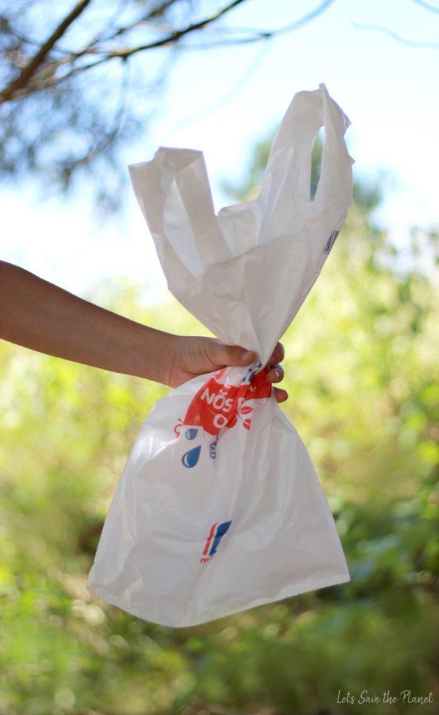 saco de plástico comum